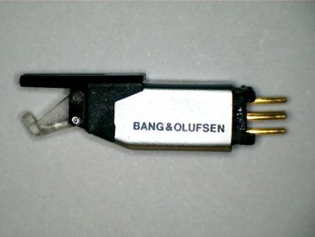 Wiederhergestellter B&O Tonabnehmer. MMC 1 mit elliptischer Diamant Nadel und Alu Cantilever.